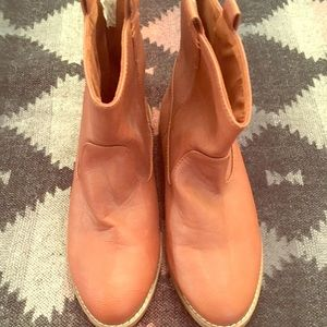 Old Navy Cognac Ankle Boots